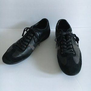 Lacoste Misano Black Suede Leather Sneakers
